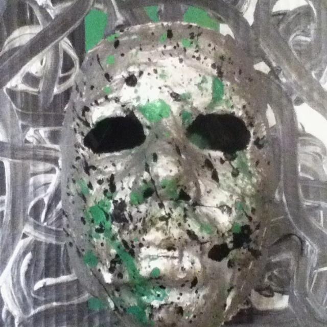Put plaster gauze on your face. Let harden. Then paint.