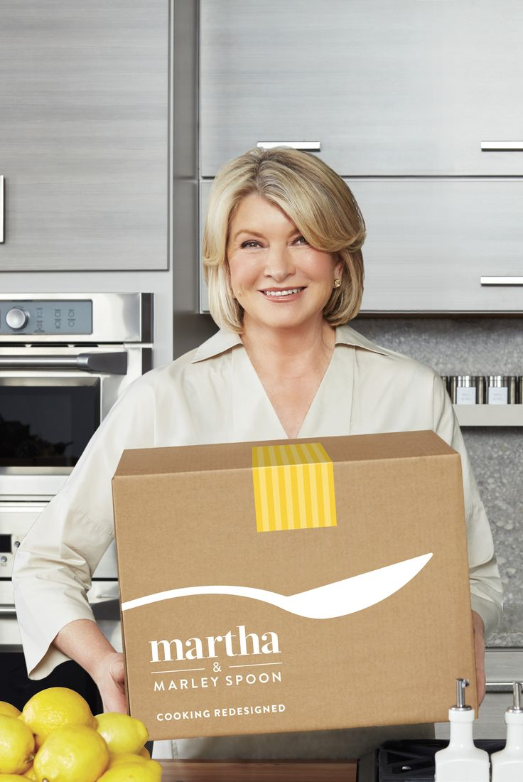Do you love cooking Martha's recipes but hate trips to the grocery store? Try Martha & Marley Spoon! You'll get boxes with her recipes and fresh ingredients delivered straight to your door.