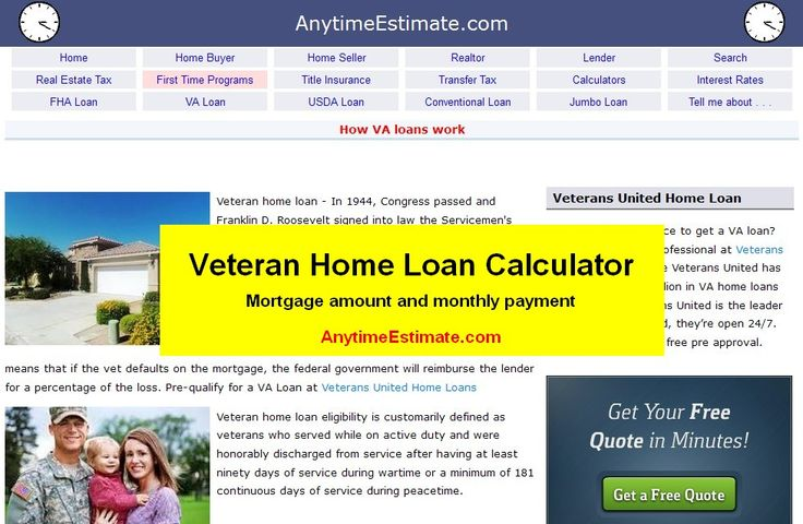 17 Best images about VA Loan Calculator on Pinterest ...