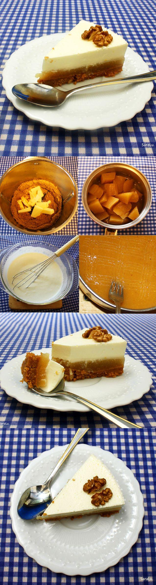 Tarta de queso y membrillo
