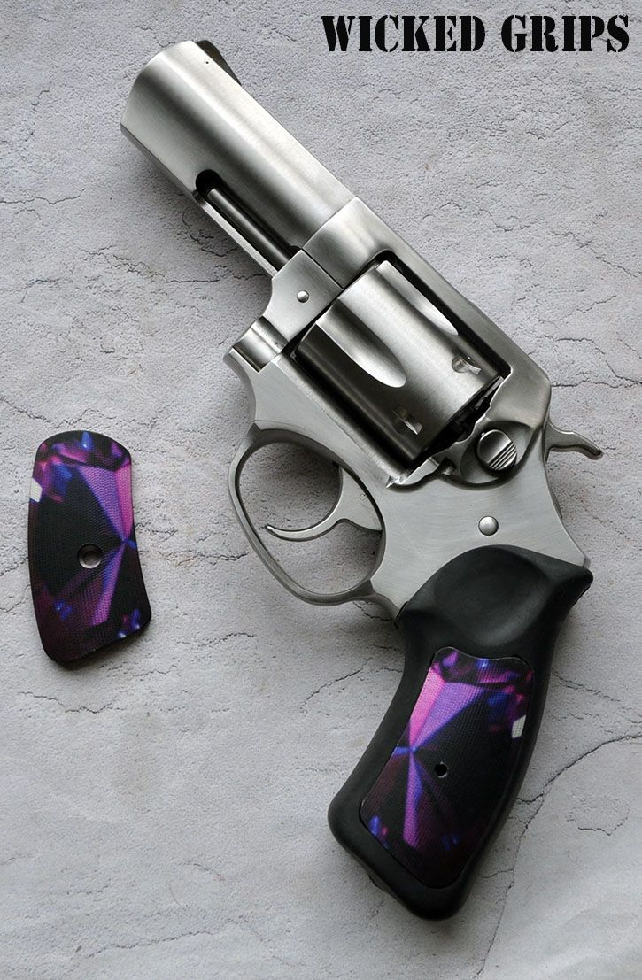 CUSTOM RUGER SP101 GRIPS! ALUMINUM GEMSTONE SERIES AMETHYST! - Wicked Grips