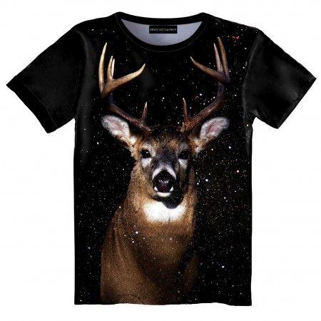 Cosmo Deer T-shirt #tshirt #streetwear #streetfashion #streetstyle #brzozowskafashion #brzozowska #fashion #print #3d #3dprint #fullprint #deer #cosmic #universe #galaxy #jelen #motyw #jelenia #modauliczna #polskistreetwear #koszulka #nadruki #nadruk #autorski #projekt