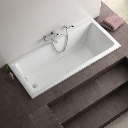 Baignoire rectangulaire, 170x75 cm, acrylique, D-Code