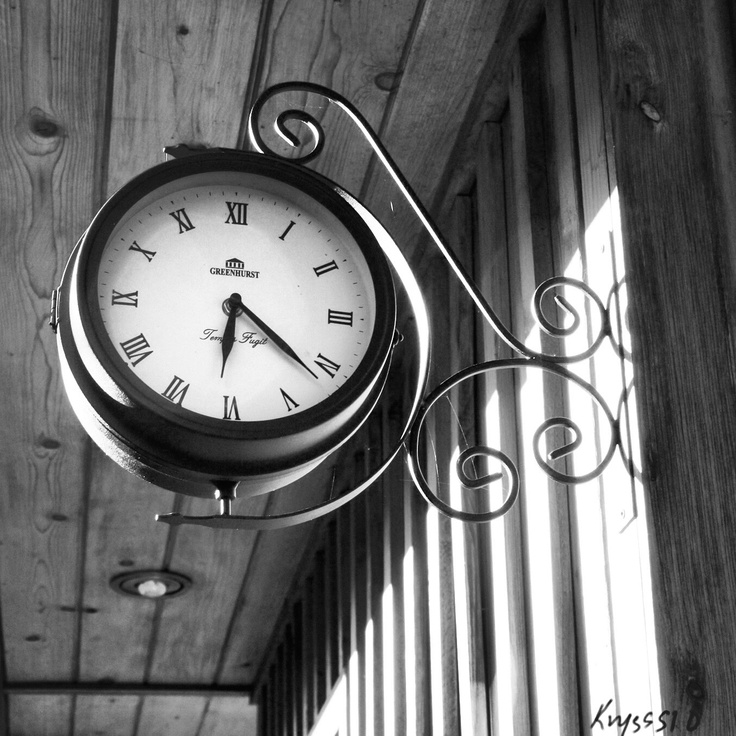 Black and White. Clock.