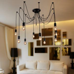 Unitary™ Antique Large Barn Chandelier with 10 lights Painted Finish