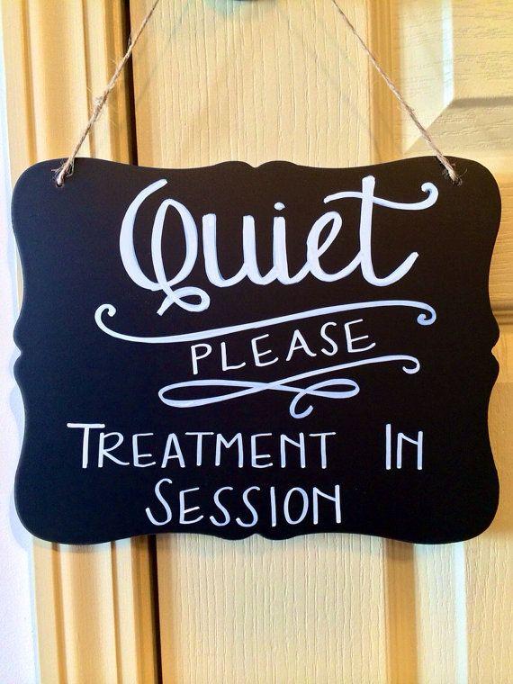 Spa/Quiet Chalkboard. Spa Sign. Quiet by theInkandInspiration