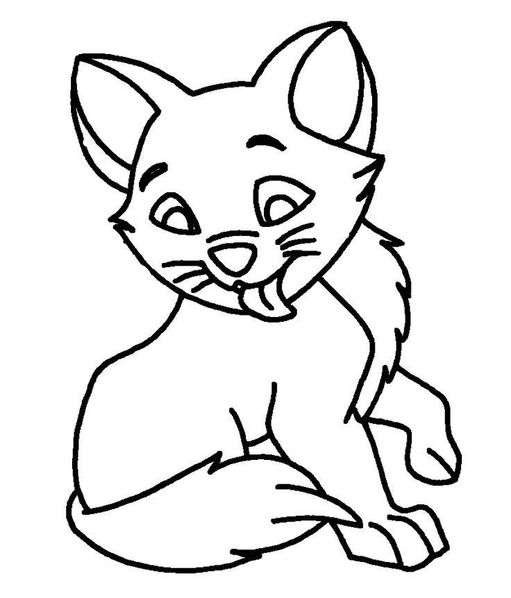 Dibujo de gatos para colorear