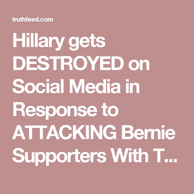 Hillary gets DESTROYED on Social Media in Response to ATTACKING Bernie Supporters With Trending Hashtag #BasementDwellers – TruthFeed