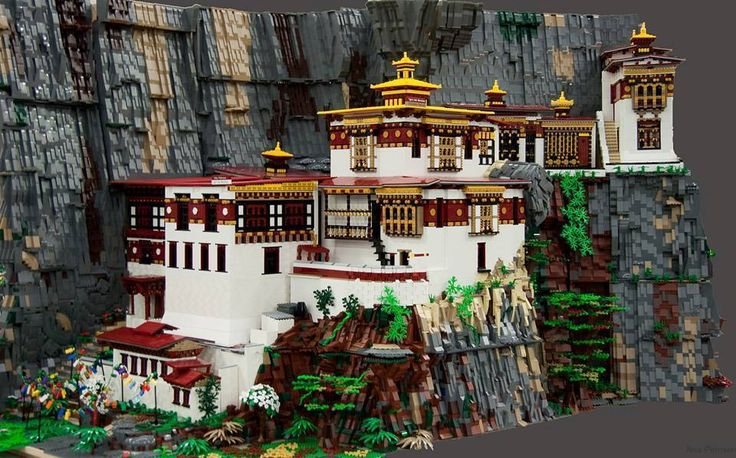 Taktsang Monastery (Tiger's Nest), Paro, Bhutan - Contruction by Lego (Lower)