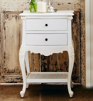Baroque French Provincial 2 Drawer Bedside