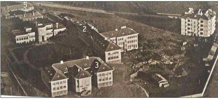 Hıfzıssıhha  ''Kimyahane ve Bakteriyoloji binası, 1928. 2. Serumhane binası, 1932. 3. Hıfzıssıhha Mektebi, 1932. 4. Lojmanlar, 1930. 5. Ahırlar, 1932. Kaynak: Yılmaz ve Çügen, 2011.'' _Ayşe Nihan Avcı ve İpek Memikoğlu nun Ankara Araştırmaları Dergisi ndeki makelesinden_
