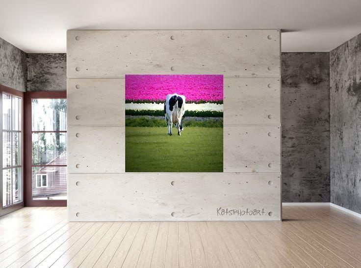 "Kats Original ""Dutch"" Certified Fine Art PhotoRag print"". 100x 100 cm Diasec 2 mm mat acrylaat / 4 mm Alu-Dibond."