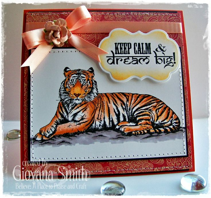 Project by Giovana Smith for Crafter's Companion. Stamp set used: Tiger, tiger (A Taste of India Collection). ◦Spectrum Noir Markers used: OR1, TN2, TN3, TN7, FS3, BG2, BG3, BG4, Blender. ◦Spectrum Noir Blendable Pencils Used: 022, 084, 091, 007, 008
