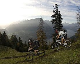 Switzerland's Panorama Bike route, between Bodensee and Lac Léman leading through the Alpine foothill landscapes.