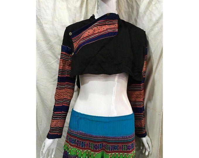 Vintage tribal Hmong women jacket in Dien Bien area,north of Vietnam