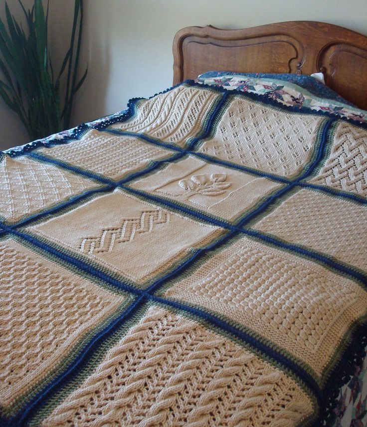 60 Easy-To-Knit Pattern Stitches Sampler Afghan - Pictured project by Rosecityknitter