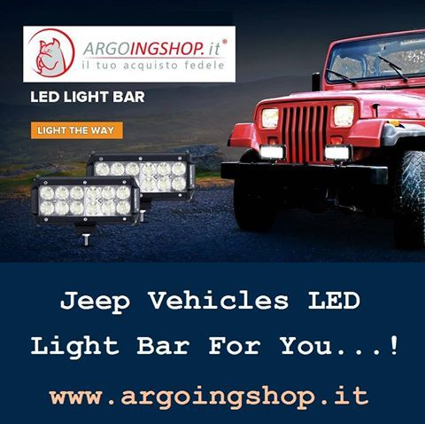 ✔ Jeep Vehicles LED Light Bar For You! 🚍 The ArgoingShop offers light bars, flood LED light bar, LED driving lights, headlights, tail lights, fog lights & lighting accessories for all Jeep vehicles in Italy & Europe Market. ✔ Visit Shop Here: www.argoingshop.it . . . . . . #LEDLights #LED #Jeep #SpotLightBars #LightBar #LEDLightBar #Headlights #TailLights #FogLights #ArgoingShop #Italy #Europe