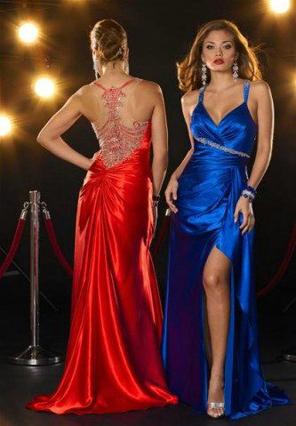 A-line Spaghetti Straps Beading Sleeveless Floor-length Elastic Woven Satin Prom Dress