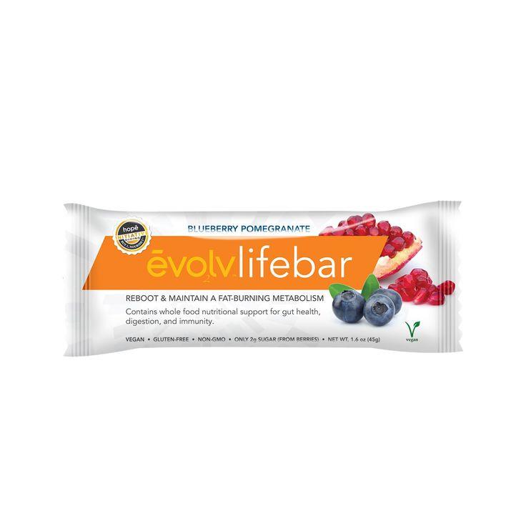 Evolv Blueberry & Pom LIFEbar - Single Box