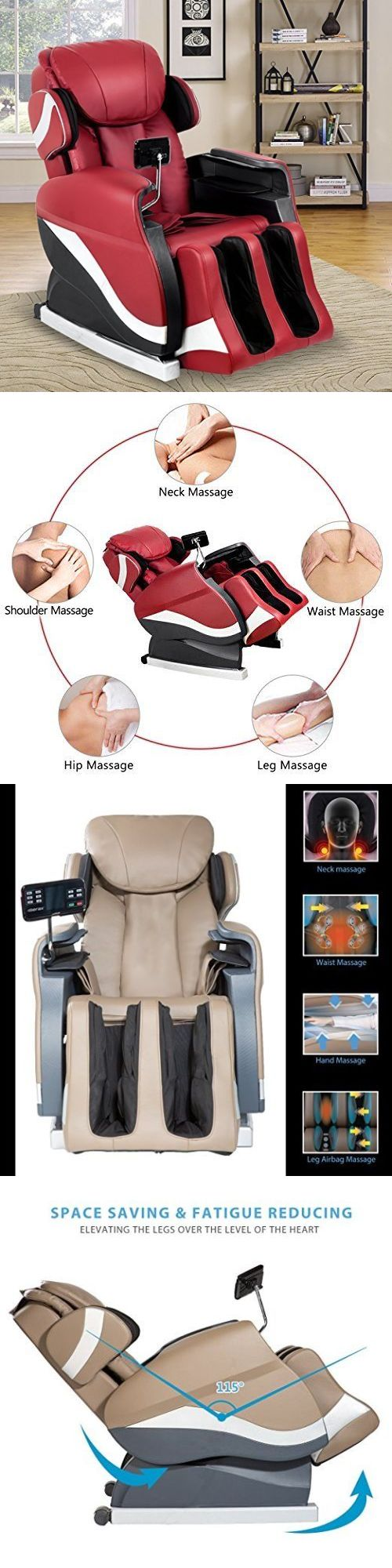 Electric Massage Chairs: Merax Massage Chair Recliner Chair With Air Massage System Shiatsu Massage Chair -> BUY IT NOW ONLY: $619.99 on eBay!