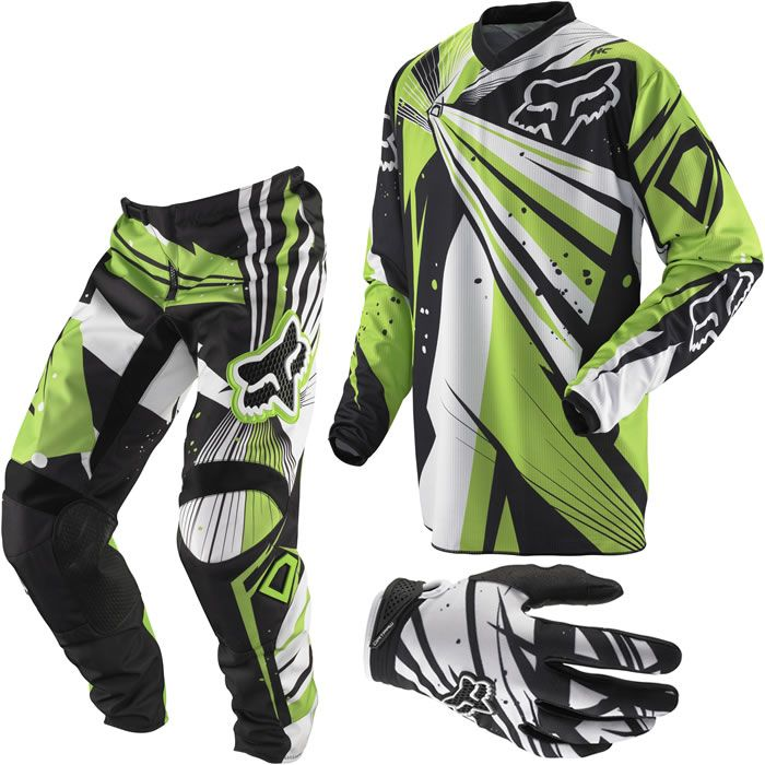 2012 Fox Racing Youth HC/180 Combo Undertow Black/Green - Mission MX Motocross Clothing & Gear