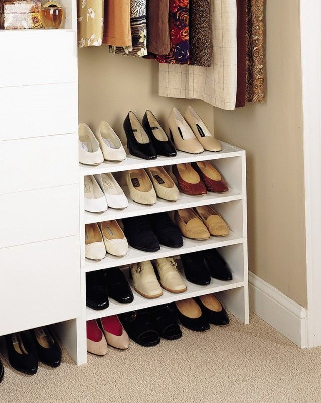 simple closet shoe organizer