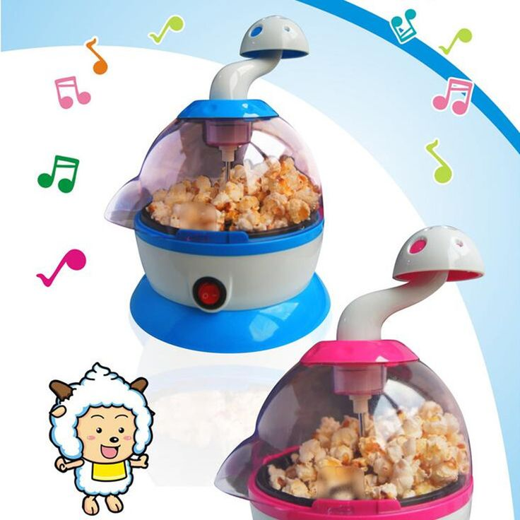 220V Cartoon Multifunction Automatic Music Popcorn Maker DIY Children Popcorn Machine Different Favors For Children Gift