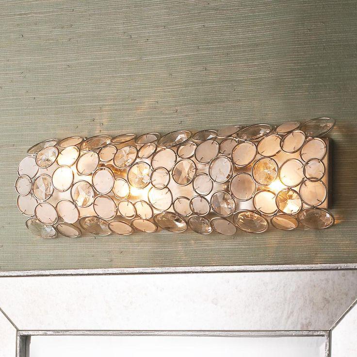 Capiz Shell Bar Bath Light 579 Finish Chrome Bathrooms