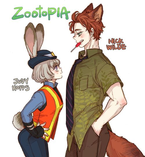 Zootopia- humanized/ anime version/ gijinka