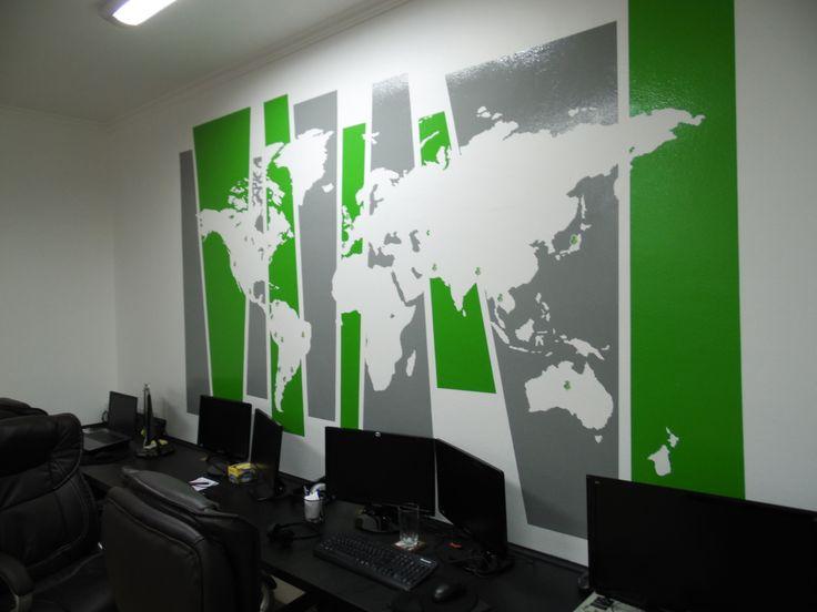 diseo e instalacin en muros con vinilo de color en plotter de corte