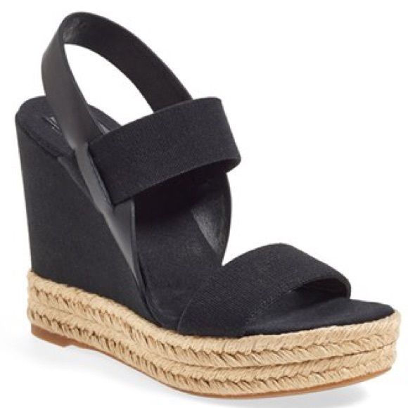 Tory Burch Wedges Brand new in box never worn Tory Burch black wedges size  10.5 Tory