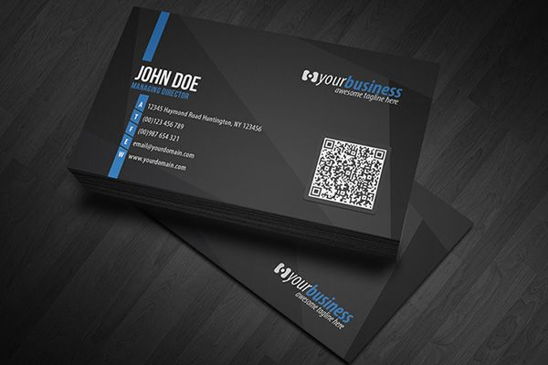 28 best premium business cards images on pinterest premium premium black corporate qr code business card template with clean design available for purchasing from reheart Images