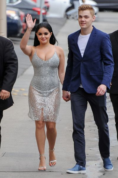 Ariel Winter and Levi Meaden are seen at 'Kimmel.'