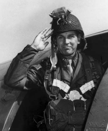 General Maxwell Taylor. As commander of the famous 101st Airborne Division, he was the first allied general to land in France on D-Day. He and his men jumped during the night behind enemy lines.