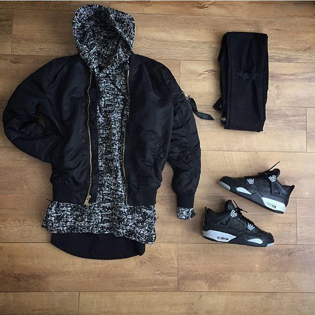 WEBSTA @ kylescropper - FuzzyAlpha industries bomber Represent black ice hoodie Blood Brother teeH