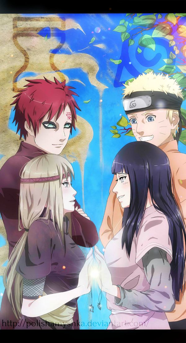 Can I just take a moment to say how beautiful this picture is? I literally started crying. The alliance, and the friendship, between Suna and Konoha. The friendship of Gaara and Naruto. The only thing is, I now have NO IDEA WHO THAT GIRL IS. I thought it was Matsuri, but her hairs darker. I decided to ignore that. Maybe her hair just became lighter. But this woman's eyes. Her eyes are blue-grey. MATSURIS EYES ARE BLACK. I really wanna know who she is :( - Caitlin, @caitr06