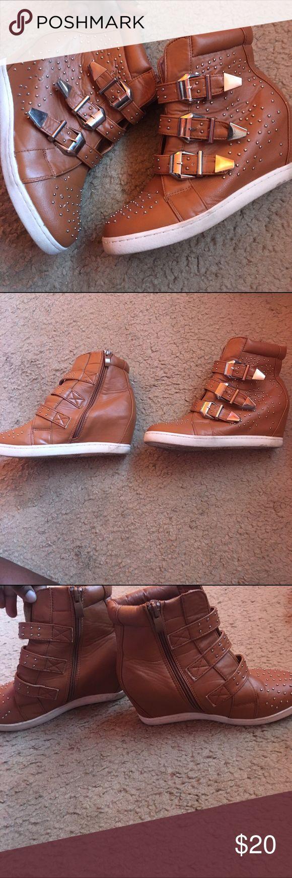 Cute sneaker wedges Brown sneaker wedges size 7.5 Shoes Wedges