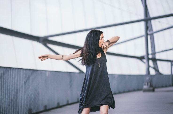 CUB lookbook spring/summer 2014 #polishfashion #fashion #cub #cub_wear #summer #cotton #natural #wild #grey #graphite #black #girl #concrete #industrial #look #city #dress #free #warior #wolf #tunic #move