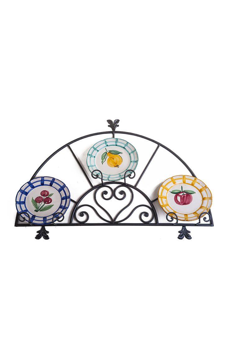 wrought iron plate holder - portapiatti in ferro battuto