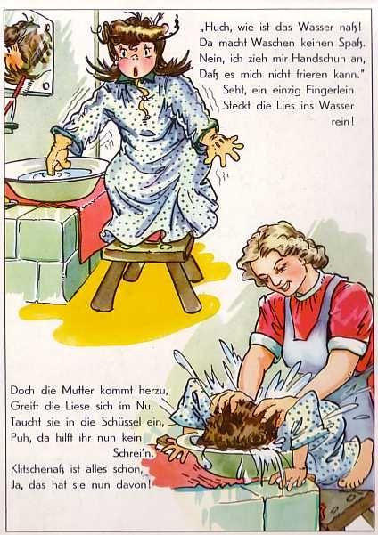 www.eichwaelder.de - Bilderbuch 50er Struwwelliese - eine Seite im Buch, die anderen kann man auch auf dieser web site finden