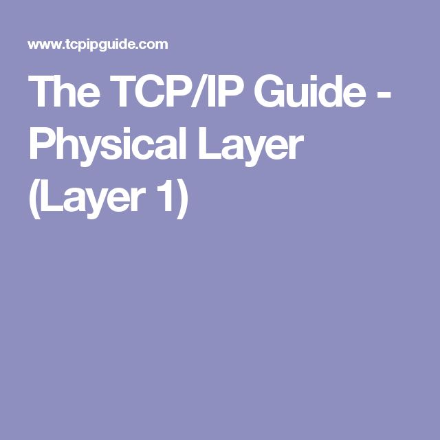 The TCP/IP Guide - Physical Layer (Layer 1)