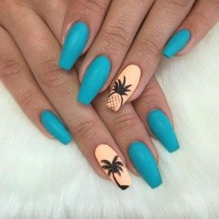 Light Blue Acrylic Nails Winter