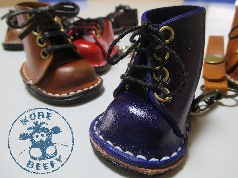 How To Make Mini Leather Boots / Shoes - YouTube