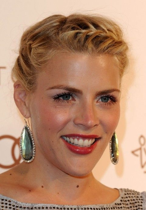 2013 Updo Hairstyles: Busy Philipps French Braided Updo ...