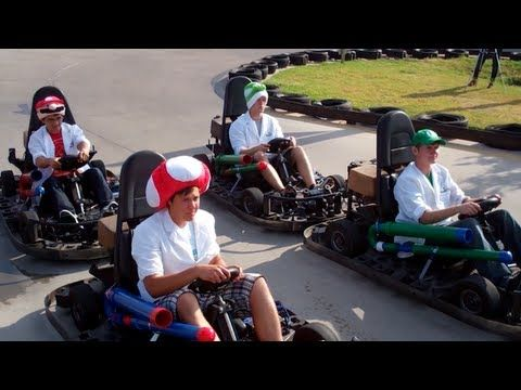 See a Real-Life Mario Kart Race Complete With RFID Bananas, Power-Ups