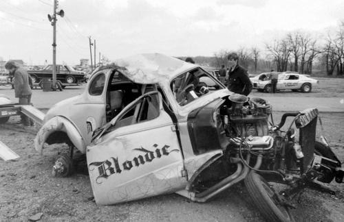 wrecked drag racer