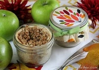 Apple pie in a jar!! Freezable until you're ready to bake, so you can always have a fresh dessert on hand!