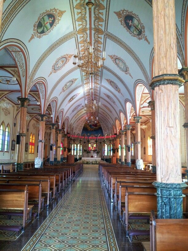 Inside Zarcero church