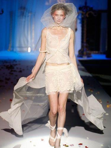 Ugly Wedding Dresses - Crazy Designer Wedding Dresses - Cosmopolitan.  - love the make up