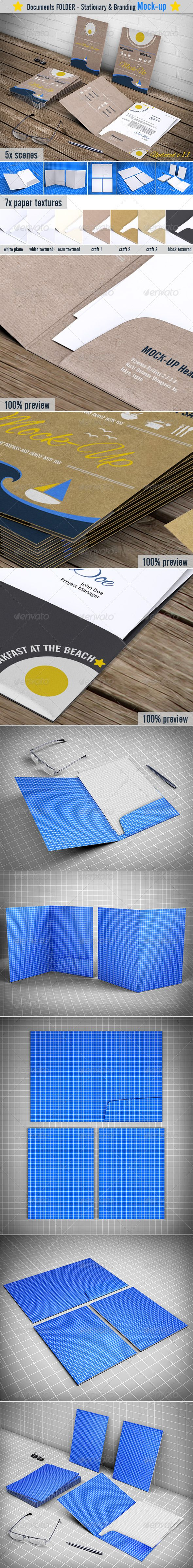 File Folder / Document Folder Mock-up - Print Product Mock-Ups